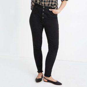 Madewell Plus Sized High Rise Skinny Jean Raw Hem